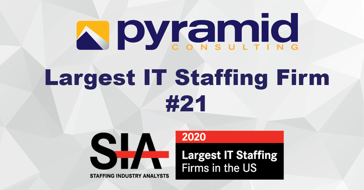Pyramid Consulting Named an SIA Largest IT Staffing Firm & Largest Staffing Firm